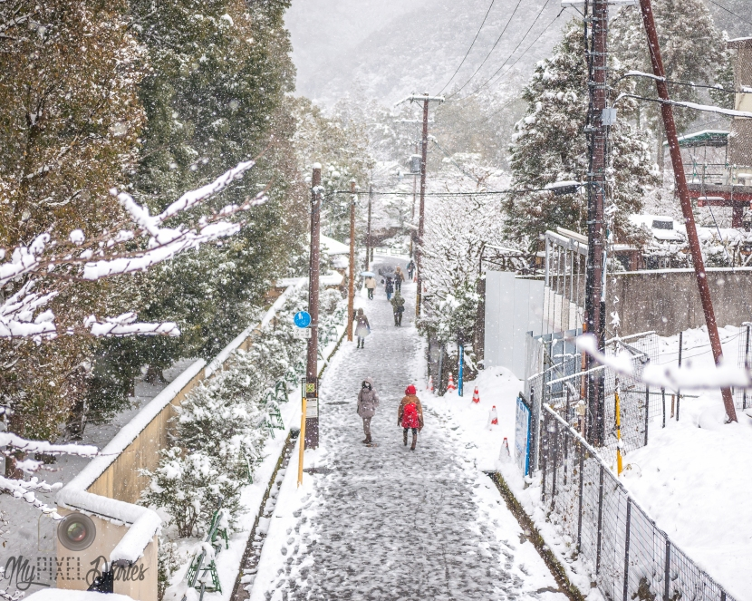 Snowy Streets of Kyoto