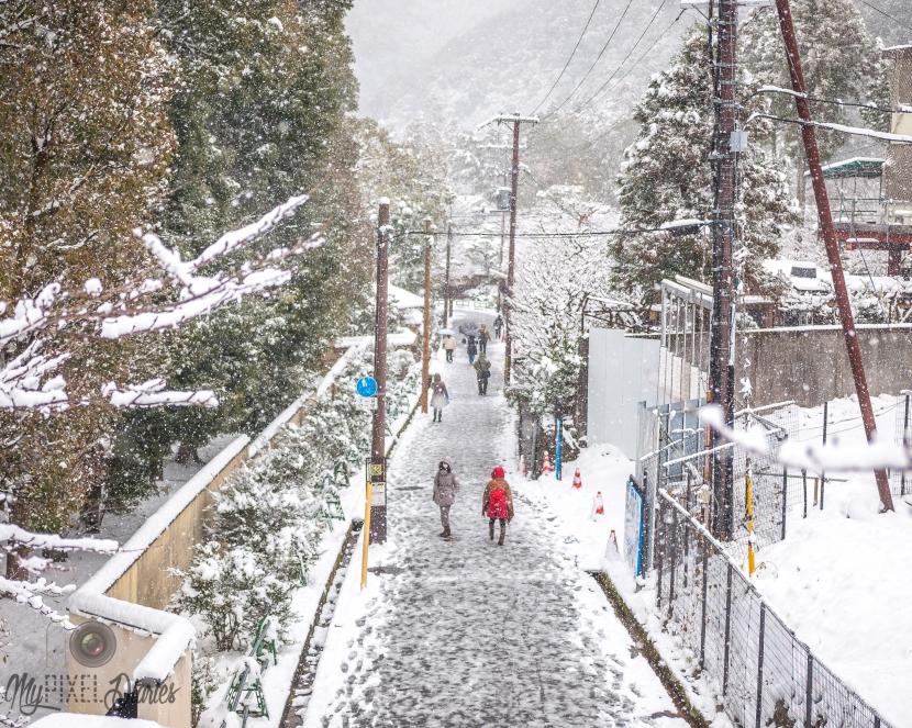 Snowy Streets ofKyoto